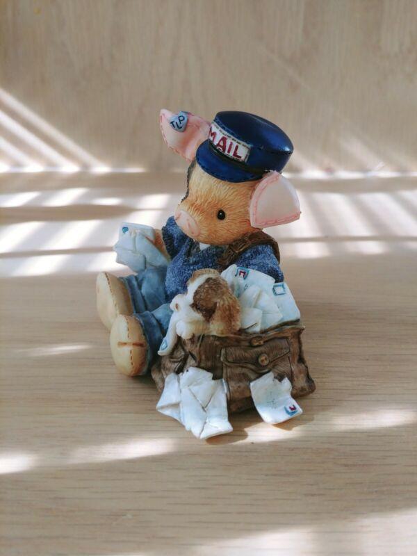 "This Little Piggy Figurine ""Porkmaster General"" Enesco 1995"