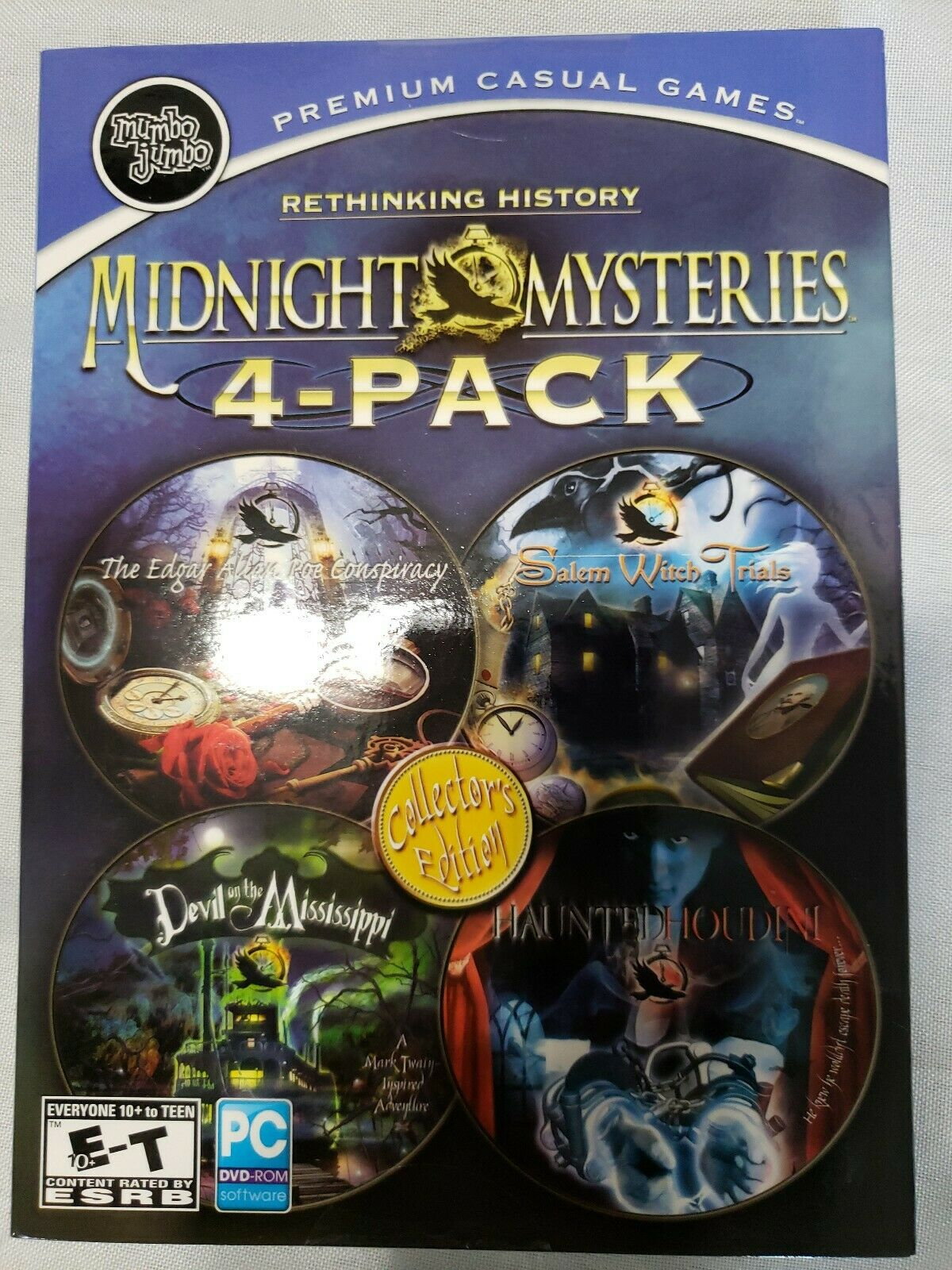 Computer Games - Midnight Mysteries 4-Pack Collectors Edition 2012  PC DVD ROM Computer Games