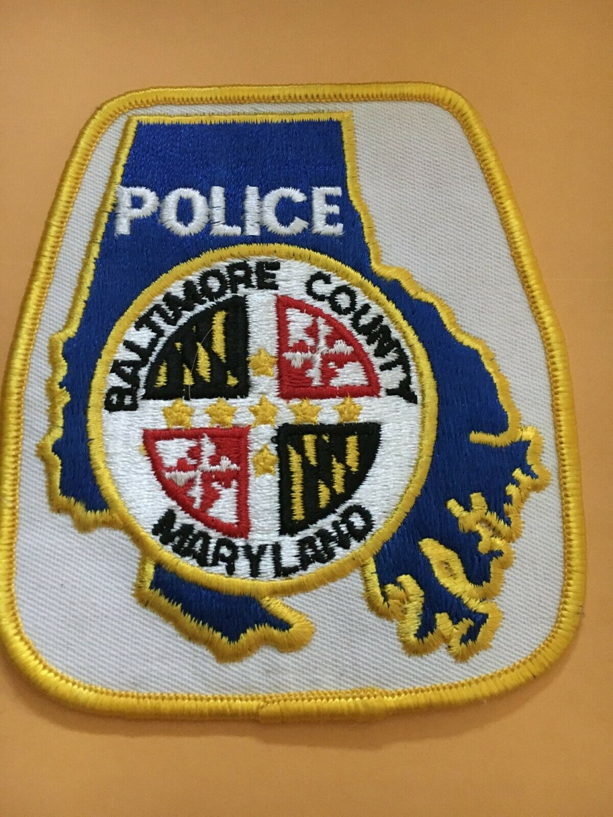 BALTIMORE COUNTY MARYLAND POLICE DEPT PATCH
