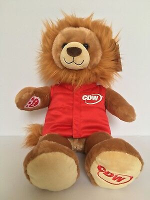 Build A Bear CDW Plush Lion With Removable Red Vest New with - Cdw Kids
