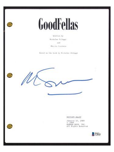 Martin Scorsese Signed Autographed GOODFELLAS Movie Script Beckett BAS COA