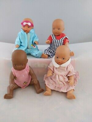 Zapf creation - 4 off Mini baby born Dolls
