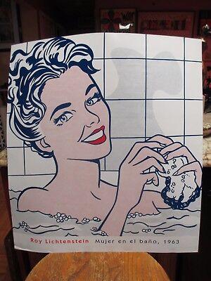 """Roy Lichtenstein Poster """"Woman in Bath"""" Museo Thyssen Madrid"""
