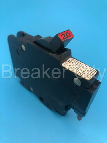 Federal Pacific 20 Amp 1 Pole Type NC (Thin) FPE NC120 Circuit Breaker *CHIP*