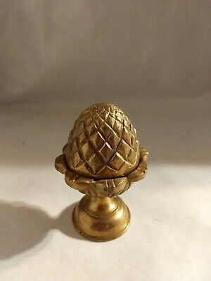 "Vintage Brass Finial Pineapple, Pine Cone, Acorn 3"" Tall Excellent Condition!!"