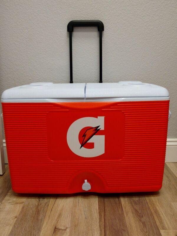 NEW Gatorade® 60 Quart Ice Chest on Wheels High Quality Sports Sideline Cooler
