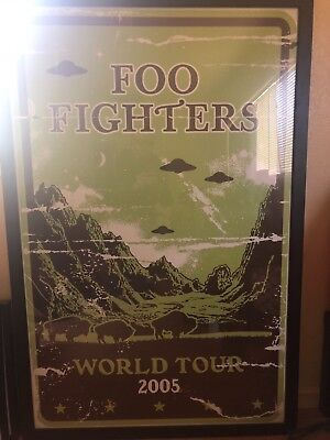 foo fighters 2005 world tour subway poster professionally framed