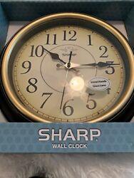 NIB sharp wall clock