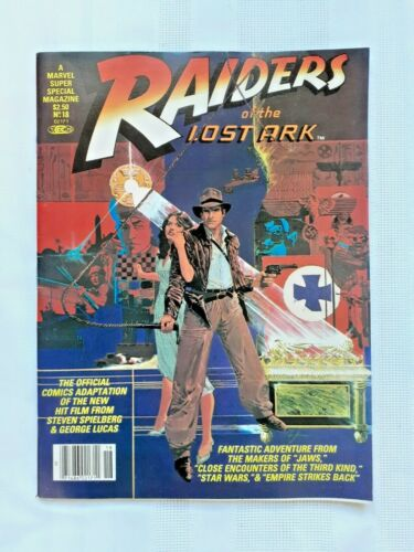 Raiders Of The Lost Ark Indiana Marvel Comics Super Special Magazine #18 1981 NM