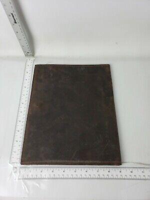 Armoir Brown Leather Portfolio - Needs Oiled