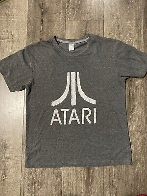 Atari Video Game Retro Logo Vintage Gaming Console T X-Large Charcoal Heather