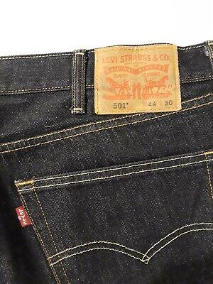 Levis 501 Black Jeans Men Size 44x30 Button Fly Original Straight Leg