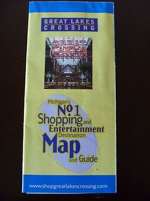 Great Lakes Crossing Mall Directory Stores Map~ Auburn Hills Michigan circa (Capital Mall Stores)