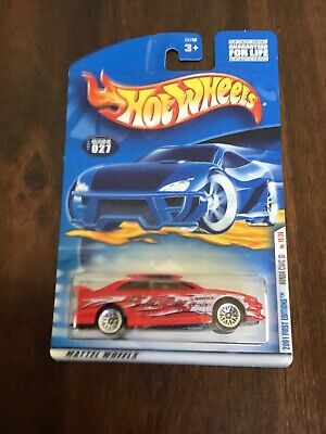 HOT WHEELS 2001 FIRST EDITIONS #027 RED HONDA CIVIC SI W/ WIRE WHEELS