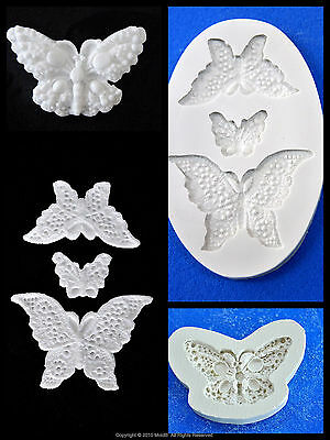 Silicone Mold Mould  for sugarcraft, Sugar Cake,Cupcake, Clay -  Butterfly Set