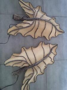 WALL FEATURE LIGHTS 3D LEAF SHAPE -SET OF 2- NEW WITH TAGS North Tamworth Tamworth City Preview