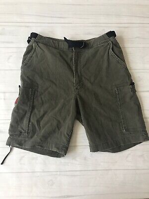 Abercrombie & Fitch Mens 34 Green Cargo Shorts With Belt