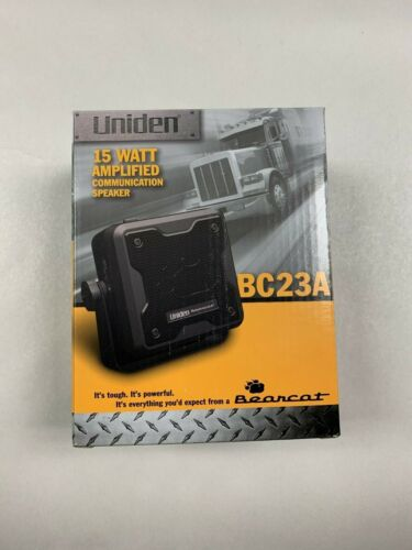 Uniden BC23A 15 Watt Amplified External CB Radio Scanner Communications Speaker