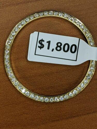 Custom 1.30CT  Diamond Bezel 10K GOLD For Rolex Men