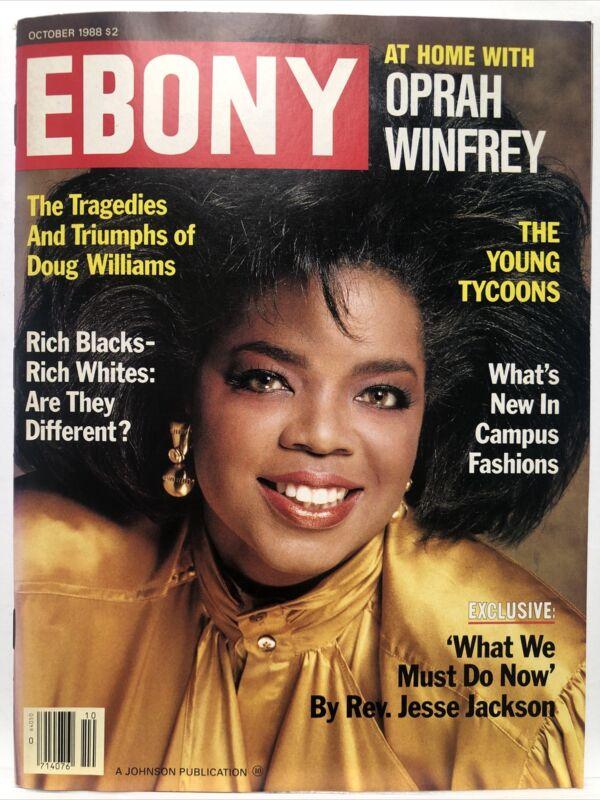 Ebony Magazine At Home With Oprah Winfrey October 1988