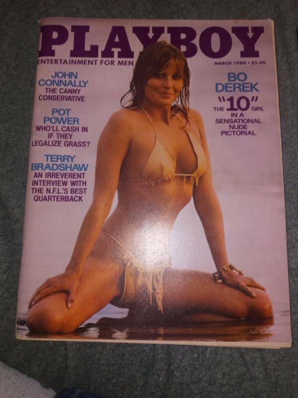 Vintage Playboy Magazine March 1980 Bo Derek Terry Bradshaw with Centerfold