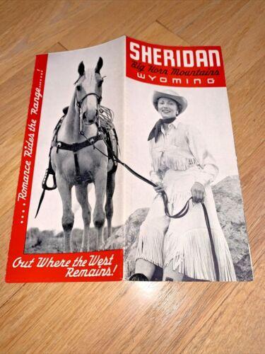 1953 SHERIDAN WYOMING BIG HORN MOUNTAIN WYOMING Brochure
