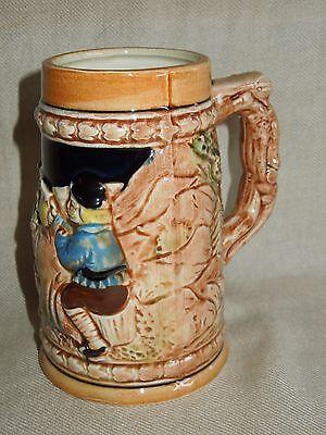 """German style beer mug stein cup ceramic hand painted Japan 5"""" height"""