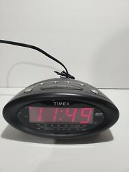 Timex T1201 Alarm Clock Radio MP3 Line-In Nature Sounds T1201 Tested