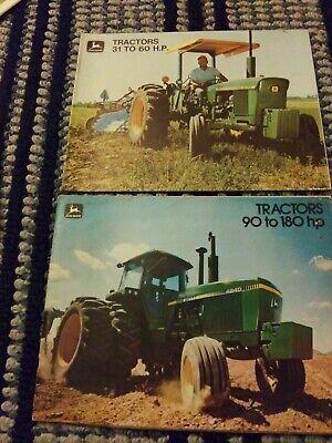 John Deere 31 To 60 Hp Tractors Brochure Models 820 1020 1520 2030 And 90 To 180