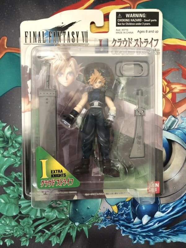 Final Fantasy VII FF 7 Cloud Strife Extra Knights Action Figure Bandai New