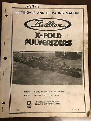 Brillion Owners Manual X108 Xc108 Xd108 Xh108 6j862