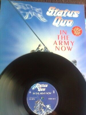 STATUS QUO LP IN THE ARMY NOW  1986 11 TRACKS