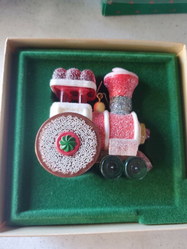 Vtg 1981 Hallmark Candy Express Train Gumdrop Cookie Keepsake Ornament Christmas