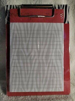 Minismall Zebra Print Clipboard.  New