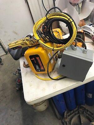 Electric Chain Hoist 1 Ton Harrington 415v460v 14 Fpm Er2a-26sy8414