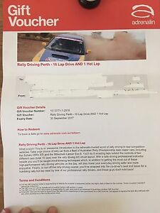 Gift Cert Ralley Driving Silver Sands Mandurah Area Preview