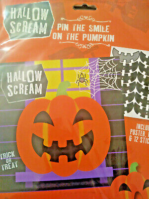 Games On Halloween Party (Halloween Party Game Pin The Smile on the Pumpkin Kit. Trick or)