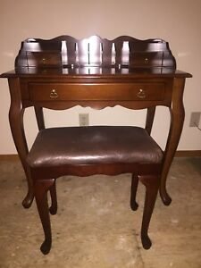 Desk and Matching Stool in Excellent Condition