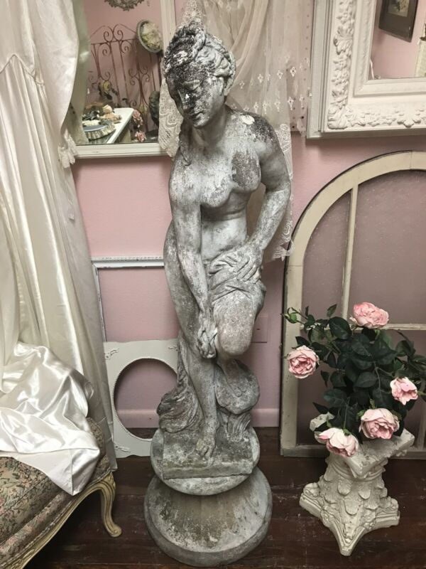 Antique Statue With Pedestal