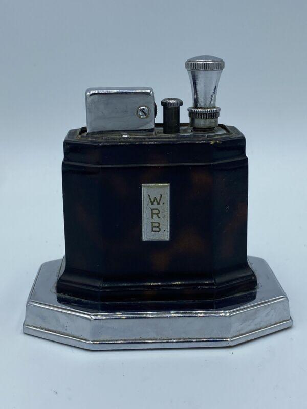 Ronson Touch Tip Lighter 1930s Octette Table Lighter Art Deco Pre WWII Model WRB