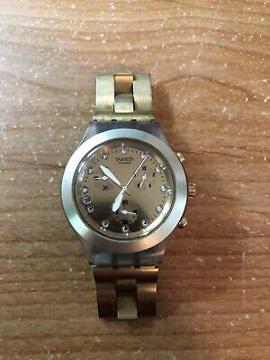 swatch watch women gold
