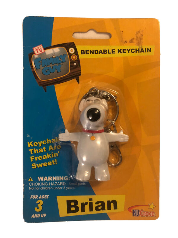 Family Guy Brian Dog Keychain Bendable