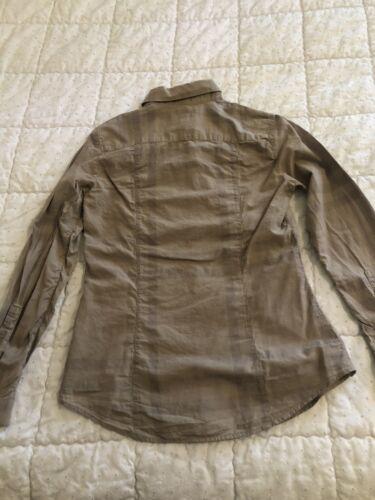 Élégante chemise à manches longues burberry brit  taille xs ecossaise beige