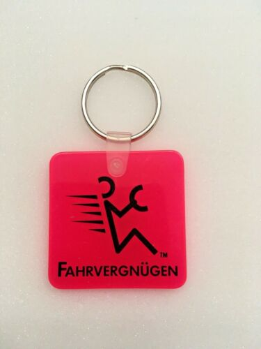Vintage VW Volkswagen Fahrvergnügen Rubber Key Chain ~ Hot Red ~ Collectible