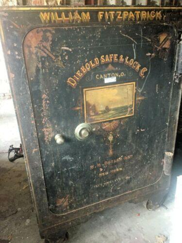 Diebold and Kienzle Co. 1877 Antique Vintage Safe WILLIAM FITZPATRICK  NEW YORK