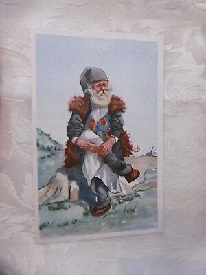 Cartolina Costumi Sardi Vecchio Mandriano di Orgosolo Vetta intonsa (ZU321) ^
