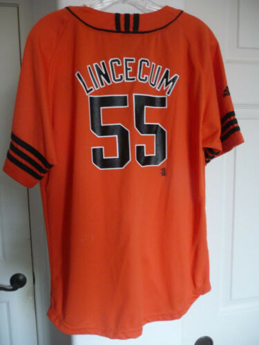 Tim Lincecum Jersey San Francisco Giants Jersey Adidas Youth XL Womens Small