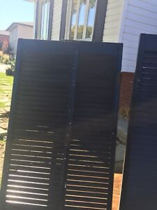 Selection of wood shutters
