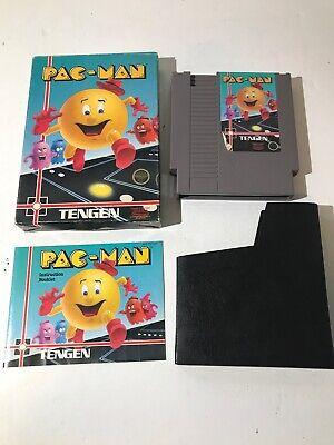 NES PAC-MAN TENGEN VIDEO GAME COMPLETE IN BOX CIB Nintendo