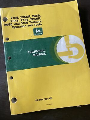 Deere 2155 2355 2555 2755 2855 2955 3155 Operation Test Service Manual Book Shop